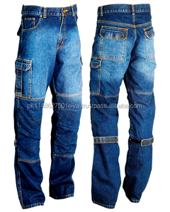 Denim Cargo Motorcycle Motorbike Work Trousers Jeans With Protection From shameer impex