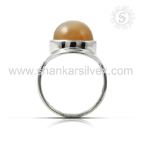 Jaipur antique jewellery moonstone gemstone silver rings 925 sterling silver ring jewellery wholesaler supplier