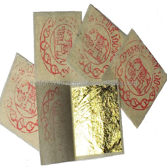 Overig Kunst vóór 1900 50 feuilles d' or 24 K Carats Veritable Gold Leaf paper sheets