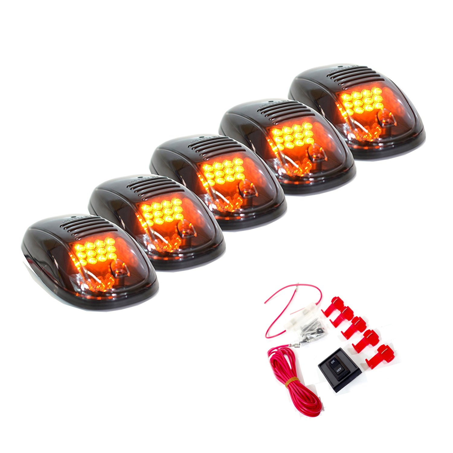 Get Quotations 5 Pcs Smoke Lens Covers 16 Amber Led Cab Marker Lights Light For 2003