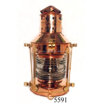 Massief Koperen Nautische Olie Lamp Anker Lamp Schip\'s Olie Lantaarn ...