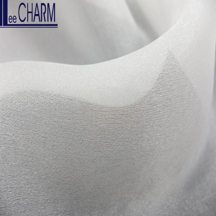 LCSH024 White Luxury Wedding Dress Thick White Satin Organza Fabric