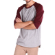 men's basic crew neck cotton 3/4 sleeve essential raglan baseball tee shirt