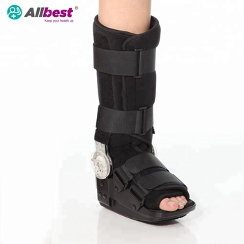 Adjustable ROM Ankle Walker