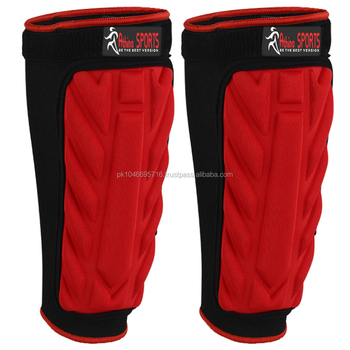 Shin Pads Guard Protector for in Black Red Color