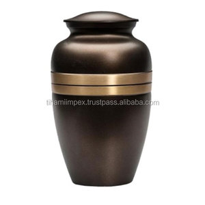 Solid Brass Cremation Adult Burial Urns for Human Ashes