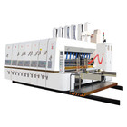 Double color flexo printing die cutting slotting machine