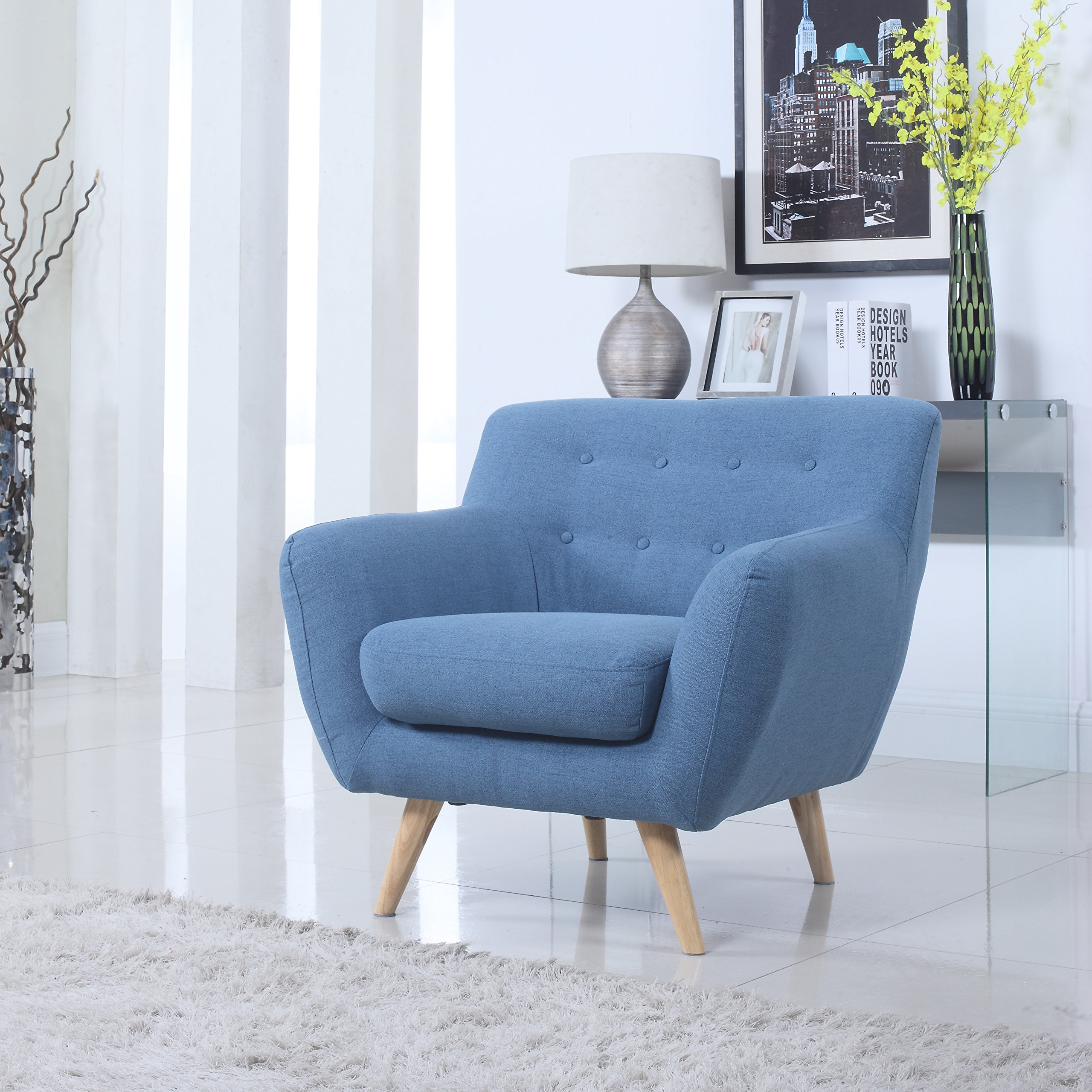 Get Quotations · Modern Mid Century Loveseat/Chair