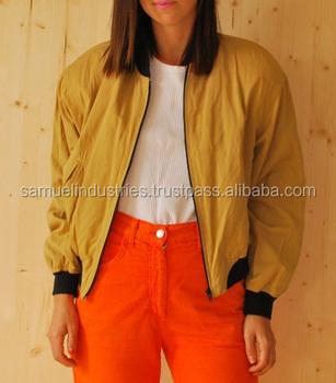18d402811 Vintage 90's Mustard Yellow Bomber Jacket\girls Nylon Bomber  Jacket\pakistan Wholesale Clothing Soft Shell Satin Bomber Jackets - Buy  Shiny Nylon ...