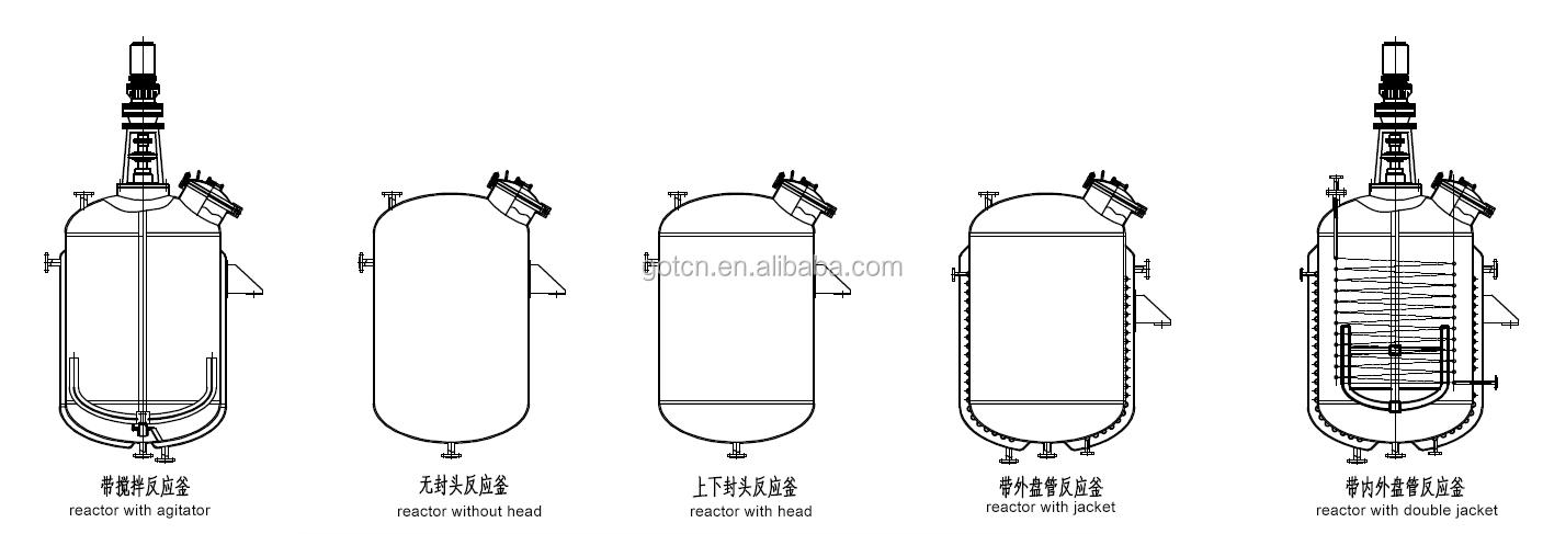 Sıcak satış 20000 litre biyo mühendisliği, amino asit, fermantasyon için reaksiyon kristalizasyon tankı