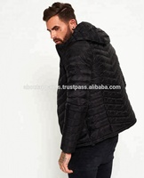 Printed Fashion Street Color Block Winter Outdoor Mens Custom Puffy Down Jacket