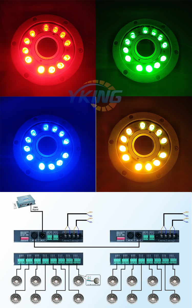 underwater led fountain light outdoor
