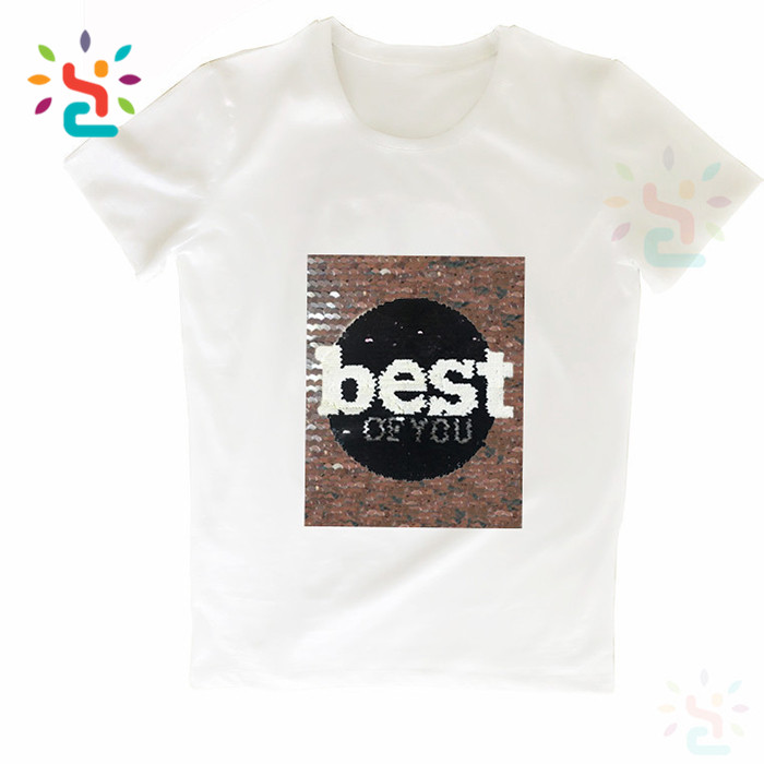 763a37c39 Custom letter best of you reversible sequin t shirt reversable skirts cute  bear bling monogram tee