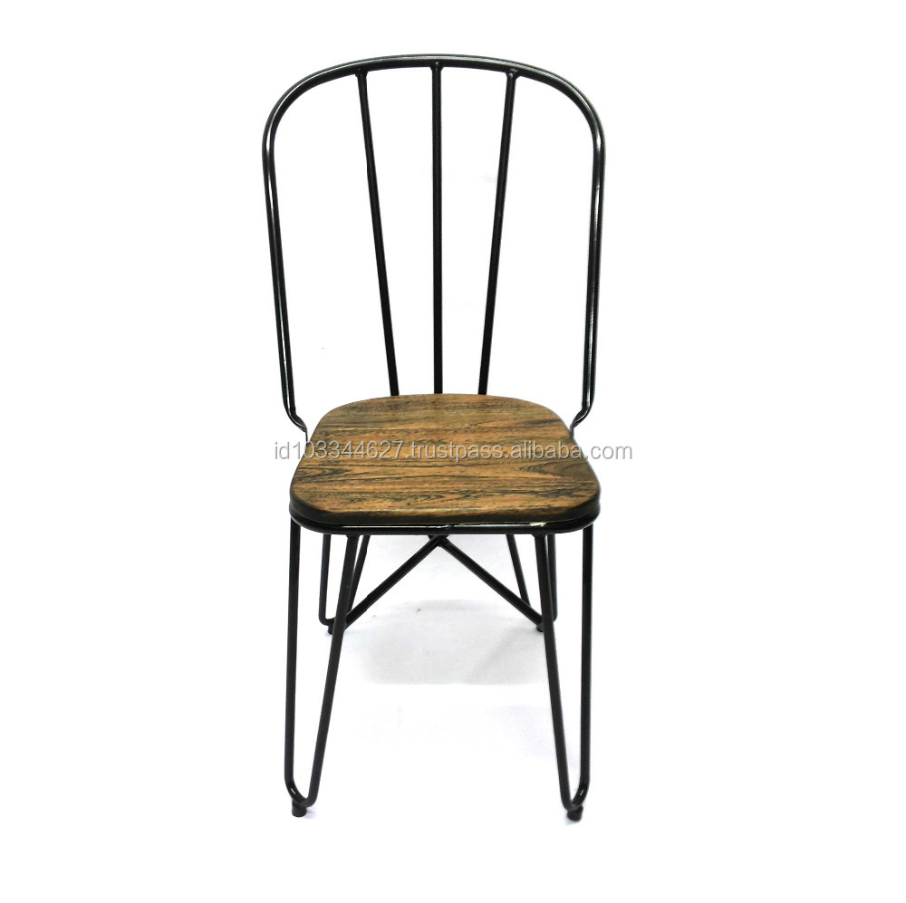 Metal Chair With Solid Wood Cushion Metal Bistro Garden Chair Vintage Antique Style