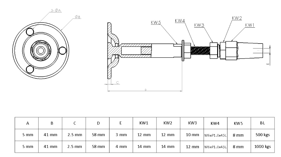 Swageless SwageFree Wire Rope Cable Push Lock Fittings