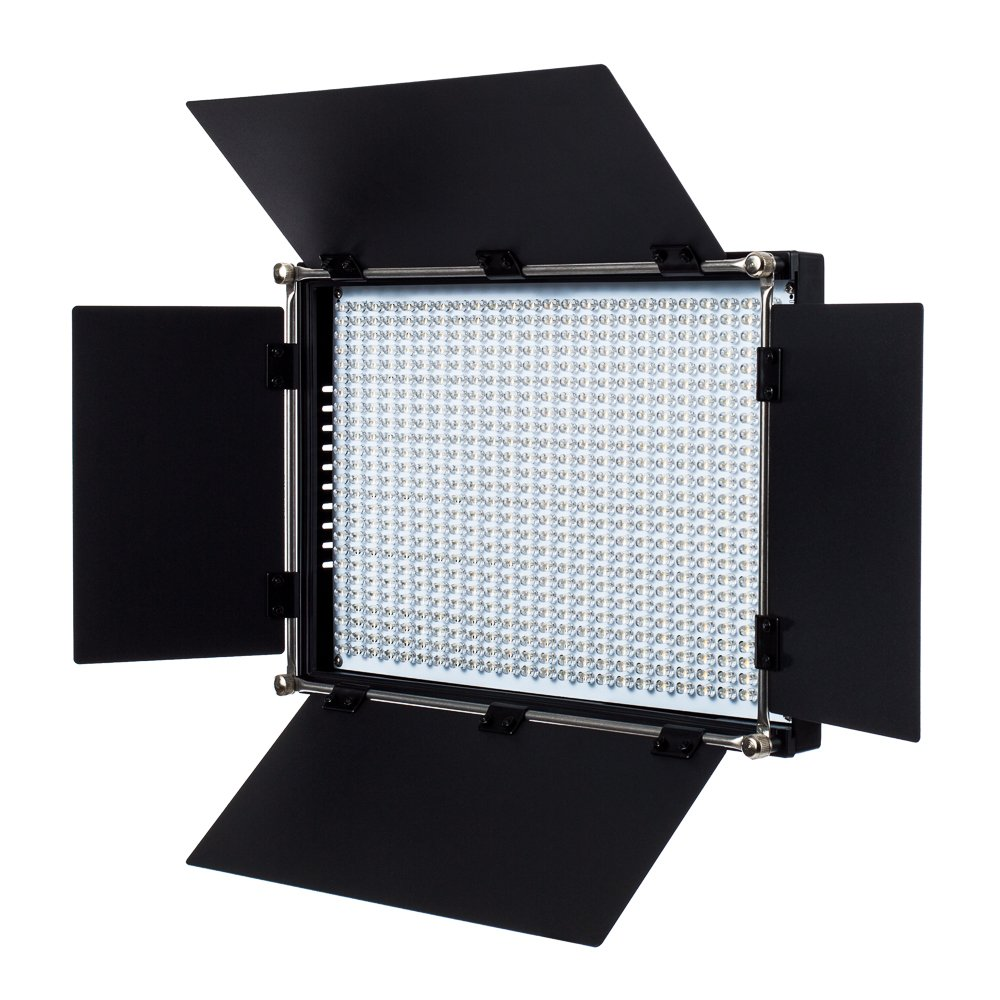 Fovitec - 1x Bi Color 650 LED Panel w/ Barndoor & Filters - [90+ CRI][Continuous Lighting][Entry Level Friendly][NP-F Compatible][3200-5600K Range]