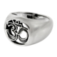 Religious design plain silver OM ring handmade 925 sterling silver jewelry rings manufacturer india
