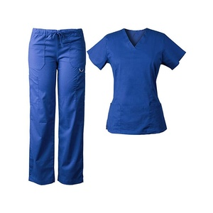Manufacture Hospital Medical Nurse Scrub Uniform Women's Scrub Set