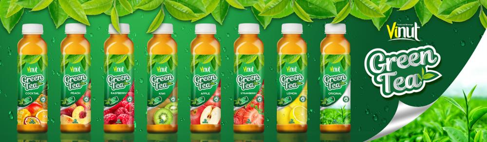 500ml Real Green Tea with Lemon juice in Pet bottle