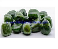 AMAZING TOP GRADE HANDMADE NEPHRITE JADE POLISHED TUMBLED STONES SMALL GENUINE