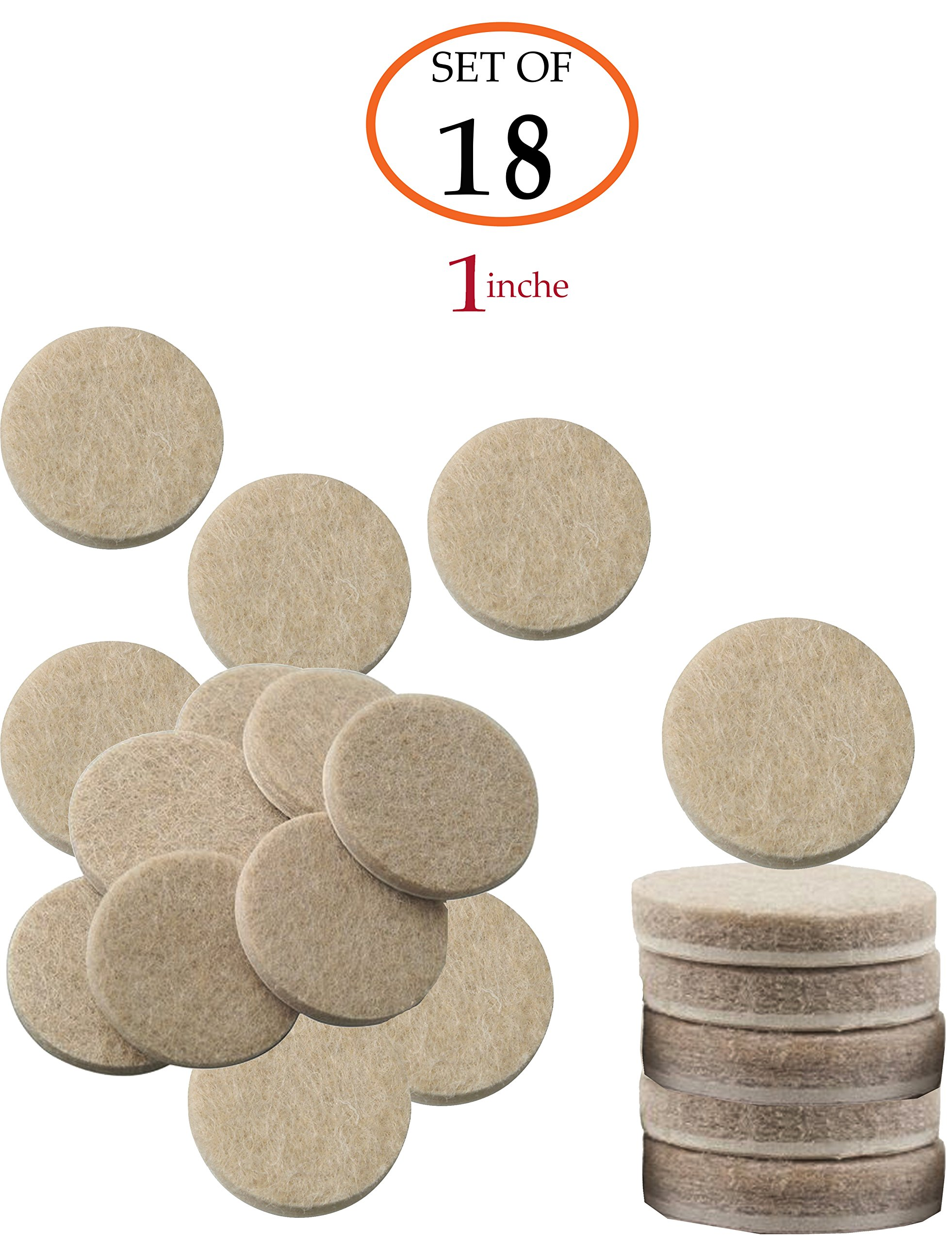 Get Quotations Self Stick Beige Round Felt Pads 18 Piece Value Pack For Furniture Legs Protect
