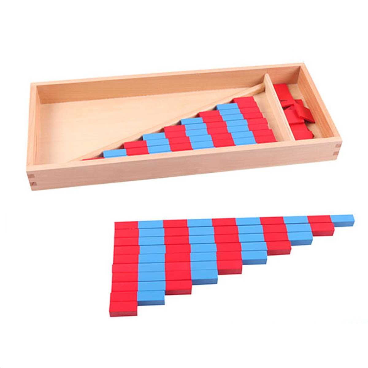 Small Numerical Rods with Number Tiles NEW Montessori Mathematics Material