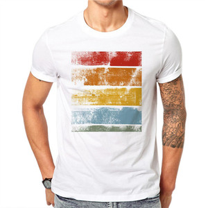 100% Cotton summer design simple clothes 50/50 polyester cotton t shirt american apparel