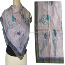 SCREEN PRINTED SILK SCARF