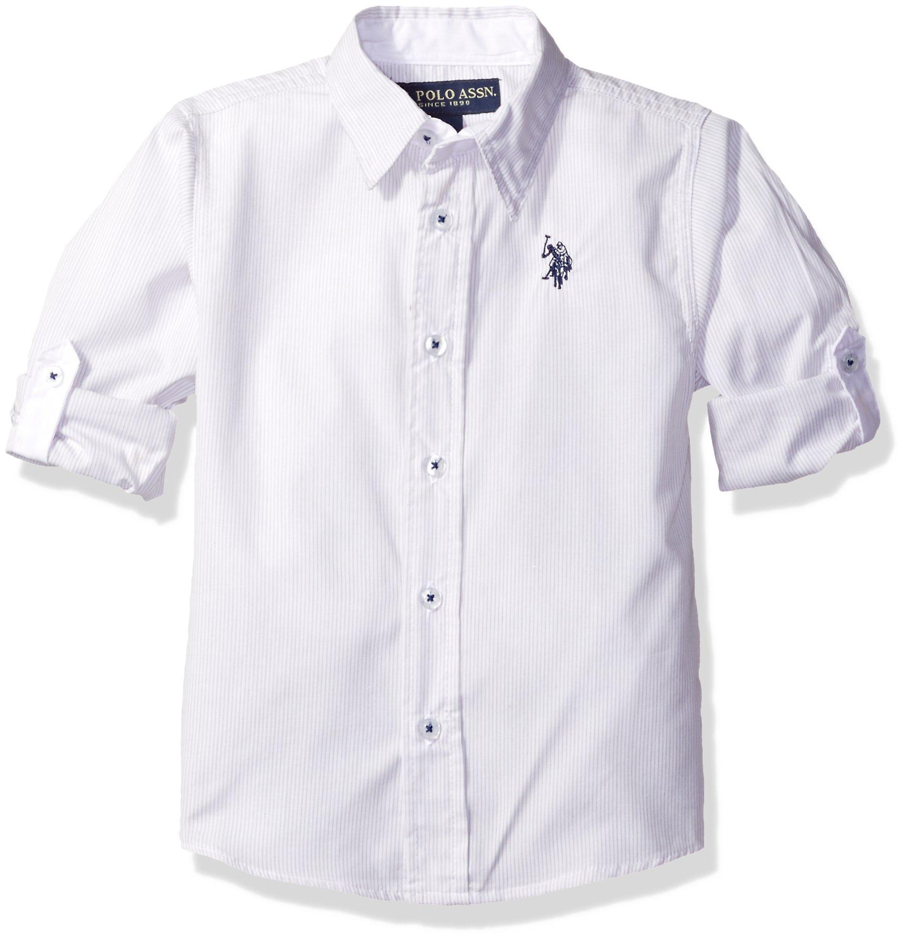 U.S. Polo Assn. Boys' Long Sleeve Striped Cotton Sport Shirt