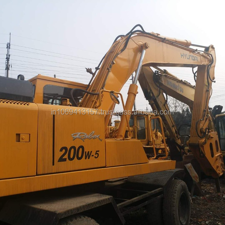 Good used Hyundai excavator 200W-5 Korea wheeled excavator good performance hot sale in Shanghai