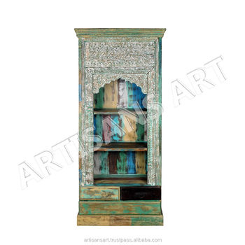 Phenomenal Vintage Indian Antique Painted Hand Carved Book Shelf Antique Furniture Book Rack Wholesaler And Manufacturer Buy Painted Antique Hand Carved Andrewgaddart Wooden Chair Designs For Living Room Andrewgaddartcom