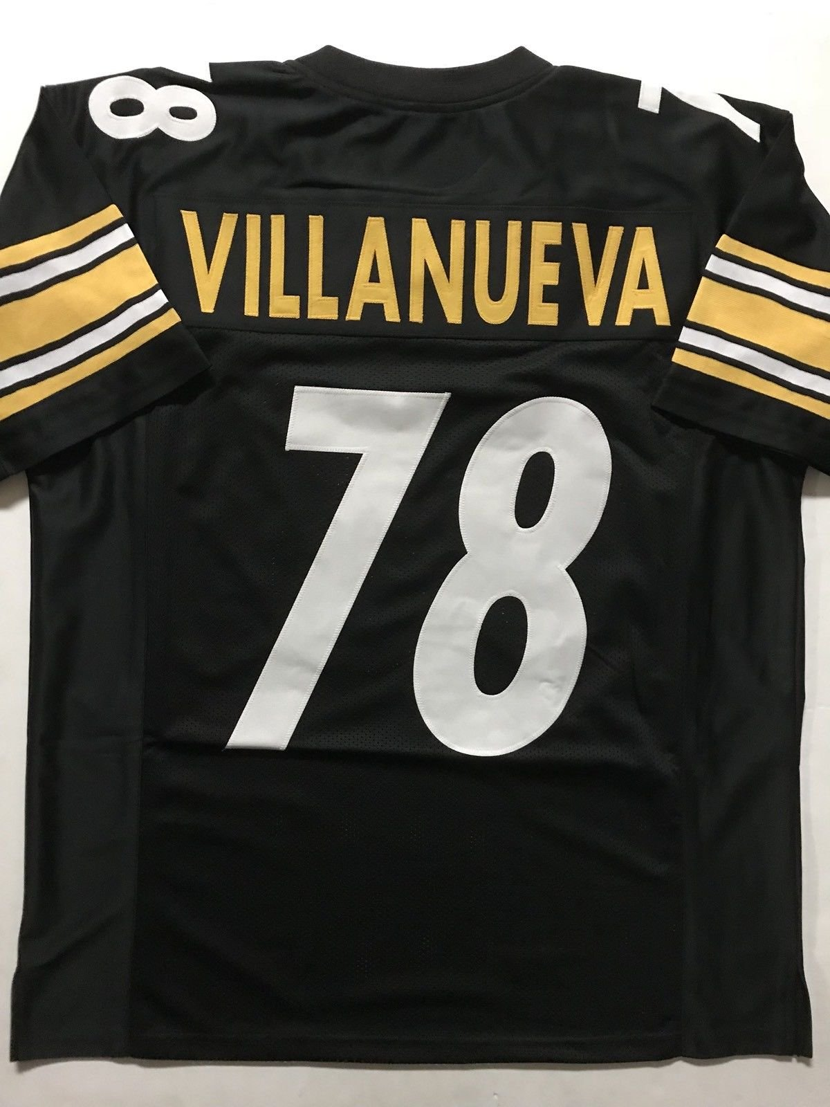 d1ce09e771f Get Quotations · Unsigned Alejandro Villanueva Pittsburgh Black Custom  Stitched Football Jersey Size XL New No Brands/Logos