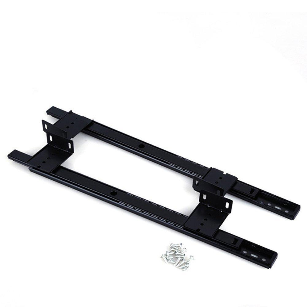 14 inch Desk Extension Computer Desk Keyboard Drawer Tray Slide Rail Rack Cupboard Wardrobe Drawer Slide Sliding Hardware Replace (Black)