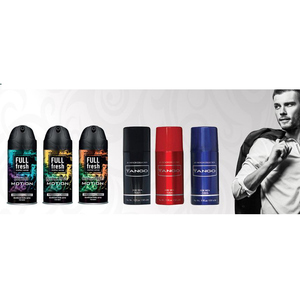Tango and Full Fresh High Grade Body Sprays And Deodorants Against Perspiration For Men And Women