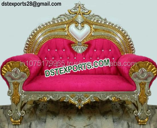 indian wedding diamond sofa designer gold plated shaadi couch buy rh alibaba com