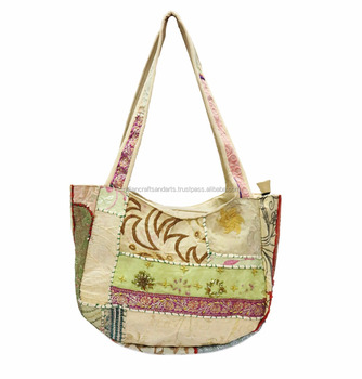 indian patchwork vintage handmade women purse ladies shoulder bag  fashionable high quality shopping tote and carry 1acfff290a4dd