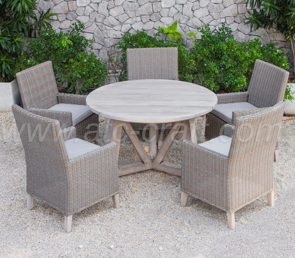 Super All Weather Resistant Garden Furniture Dining Set Wooden Round Table And 4 Chairs Rads 154 Style 1 Buy Cheap Round Dining Table And Frankydiablos Diy Chair Ideas Frankydiabloscom