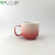 Promo white Gradient Colour red milk cup with Handle