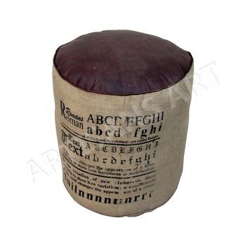 Fantastic Vintage Round Jute Pouf With Leather Details Natural Jute Leather Burlap Ottomans Leather Pouf Buy Indian Ottoman Pouf Jute Leather Pouf Burlap Caraccident5 Cool Chair Designs And Ideas Caraccident5Info