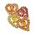 Charming Multi Cubic Zirconia Gemstone Silver Gold Plated Pendant, 925 Sterling Silver Jewelry