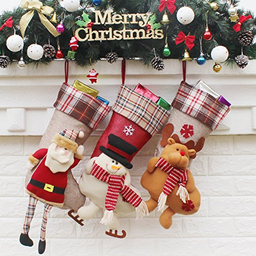 8cf31091cff Get Quotations · MangGou Christmas Stockings Personalized Ornament Tree  Decorations Stockings Hanging