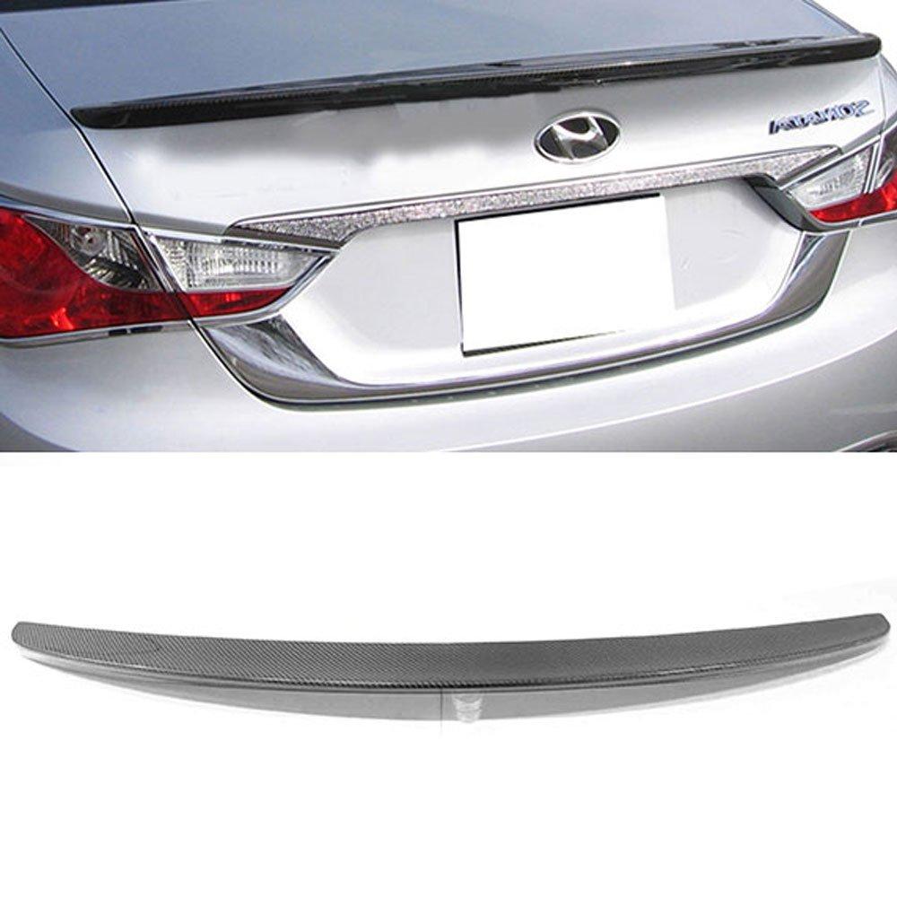Fit For 11-14 Hyundai Sonata OE Style CF Carbon Fiber Trunk Spoiler