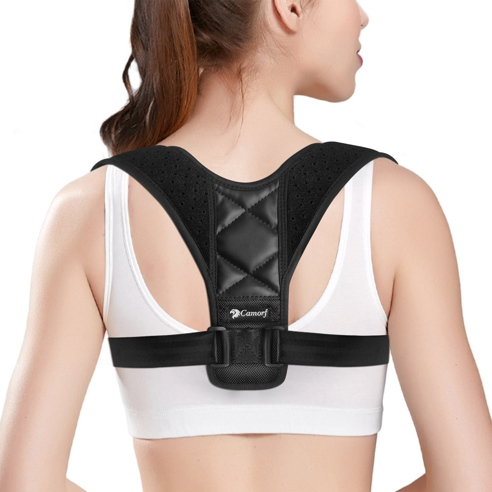 6274513a2 Get Quotations · Posture Corrector for Women   Men CAMORF Effective Back  Posture Brace - Comfortable Clavicle Support Brace