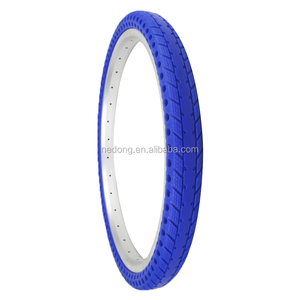 Wholesale colored bike parts bicycle fat solid tyre 20*1.75 blue tire