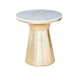 Antique Brass With Marble on Top Pedestal Table