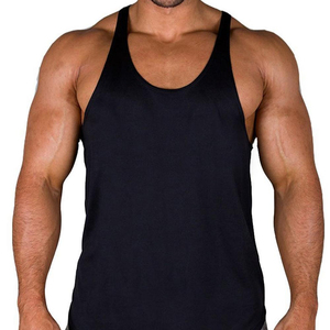 High quality Cotton Camo panels gym Stringer vest / fitness Singlet