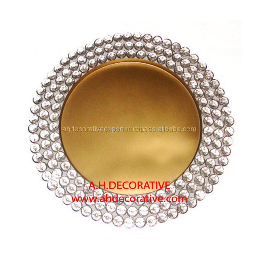 Crystal Charger Plate