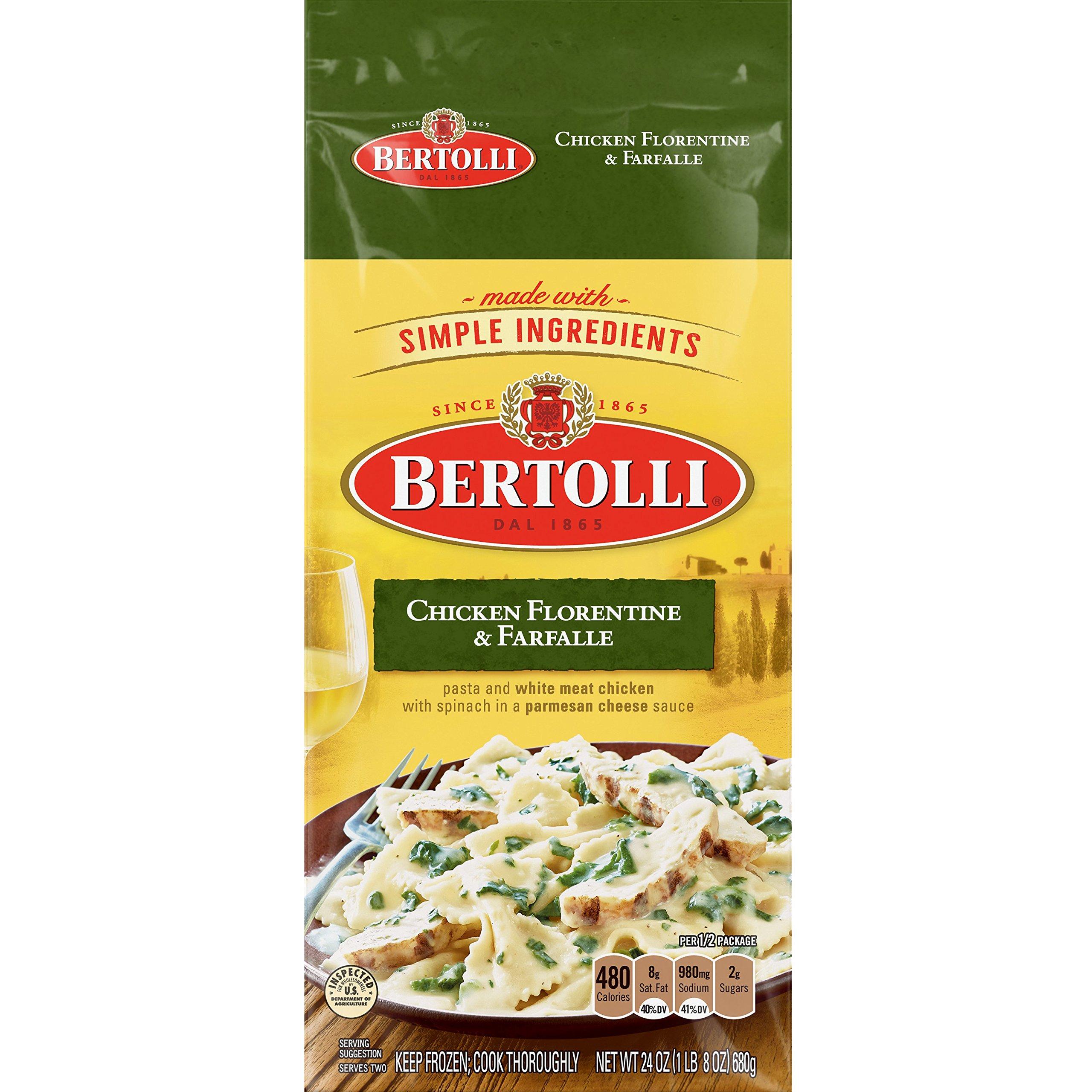 Bertolli, Classic Meal for 2 Chicken Florentine & Farfalle, 24 oz (Frozen)