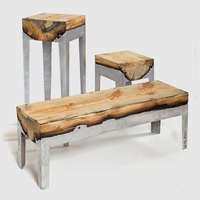 Luxury Modern Natural Wood Bench