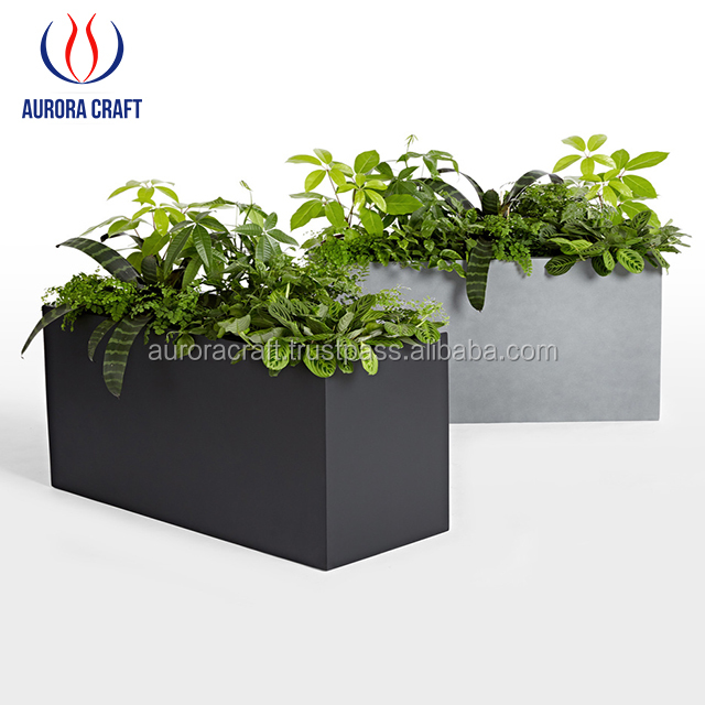 Rectangular Fiberglass Planter / Rectangle Flower Pots